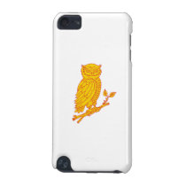 Horned Owl Perching Branch Mono Line iPod Touch (5th Generation) Cover
