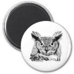 Horned Owl Refrigerator Magnets