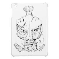 Horned Owl Spartan Helmet Drawing Case For The iPad Mini