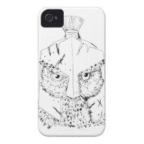 Horned Owl Spartan Helmet Drawing iPhone 4 Case