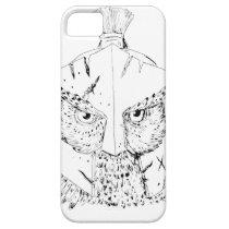 Horned Owl Spartan Helmet Drawing iPhone SE/5/5s Case