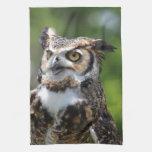 Horned Owl Towel