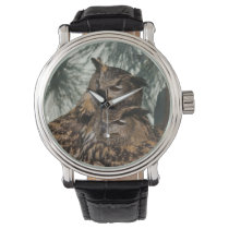 Horned Owl Wristwatch