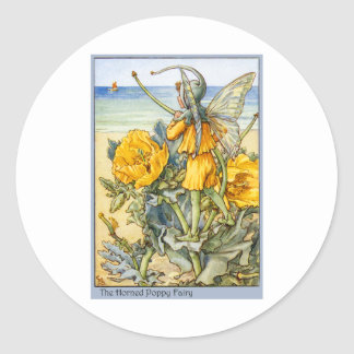 Horned Poppy  Fairy Classic Round Sticker
