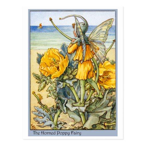 Horned Poppy  Fairy Post Card