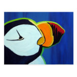 Horned Puffin postcard