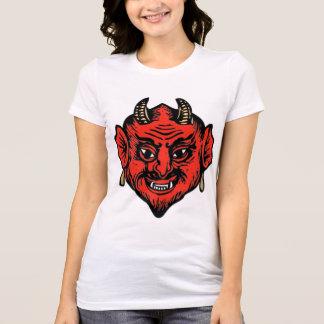 Horned Red Satan Devil Face Shirt