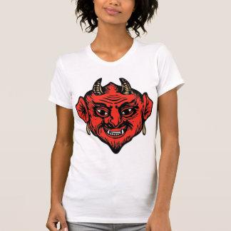 Horned Red Satan Devil Face T Shirt