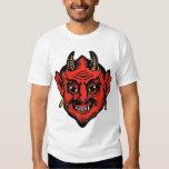 Horned Red Satan Devil Face T-Shirt