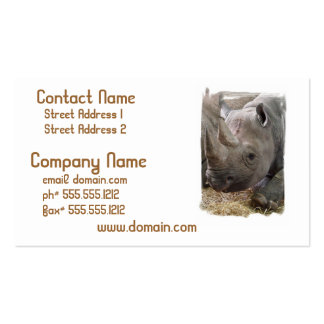 Horned Rhino Business Cards