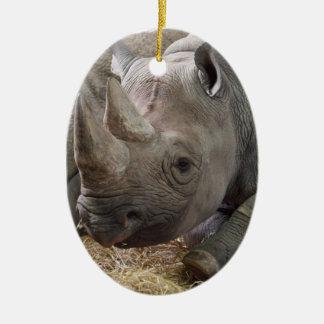 Horned Rhino Ornament