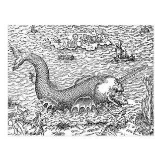 Horned Sea Serpent/Monster Postcard