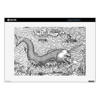 Horned Sea Serpent/Monster Laptop Decal