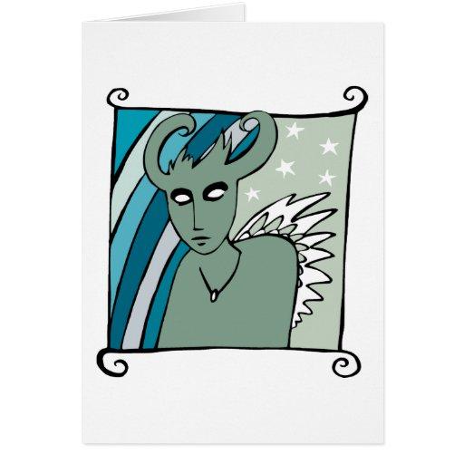 Horned Spirit Greeting Card