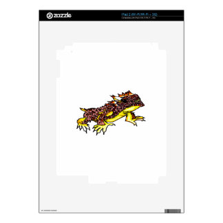 HORNED TOAD iPad 2 DECALS