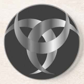 Horned Triskele- The horn of Odin Drink Coaster