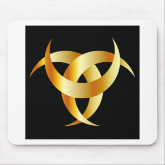 Horned Triskele- The horn of Odin Mouse Pad