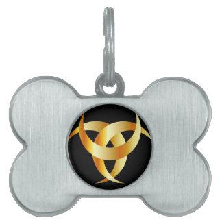 Horned Triskele- The horn of Odin Pet Tag