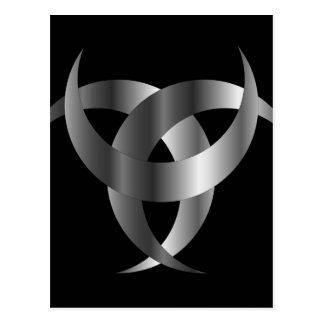 Horned Triskele- The horn of Odin Postcard