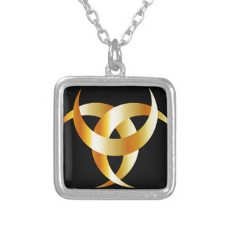 Horned Triskele- The horn of Odin Silver Plated Necklace
