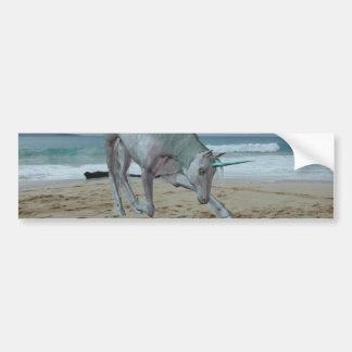 Horned Unicorn Bumper Stickers
