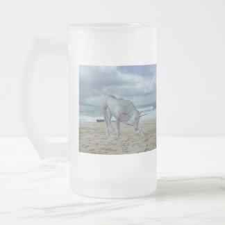 Horned Unicorn  Frosted Beer Mug