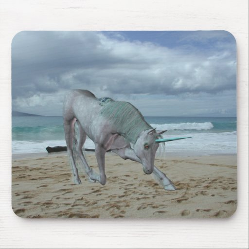 Horned Unicorn Mouse Pad