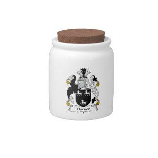 Horner Family Crest Candy Jar