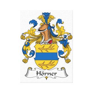 Horner Family Crest Stretched Canvas Prints
