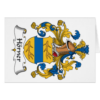 Horner Family Crest Greeting Cards