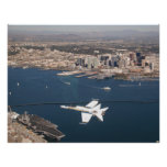 Hornet over San Diego Posters