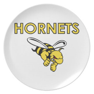 HORNETS FULL CHEST DINNER PLATES