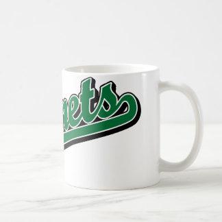 Hornets in Green Classic White Coffee Mug