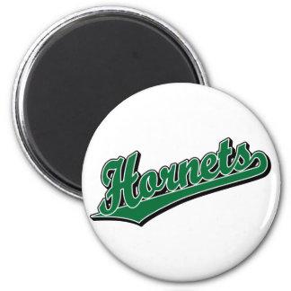 Hornets in Green Magnet
