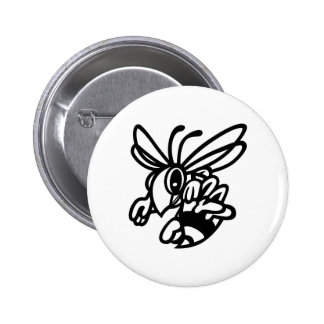 Hornets Outline Pinback Button