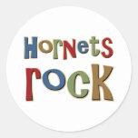 Hornets Rock Round Sticker