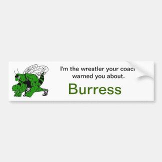 Hornets Wrestling Coach Warned You Bumper Sticker Car Bumper Sticker