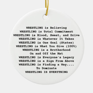 Wrestling Ornaments & Keepsake Ornaments | Zazzle