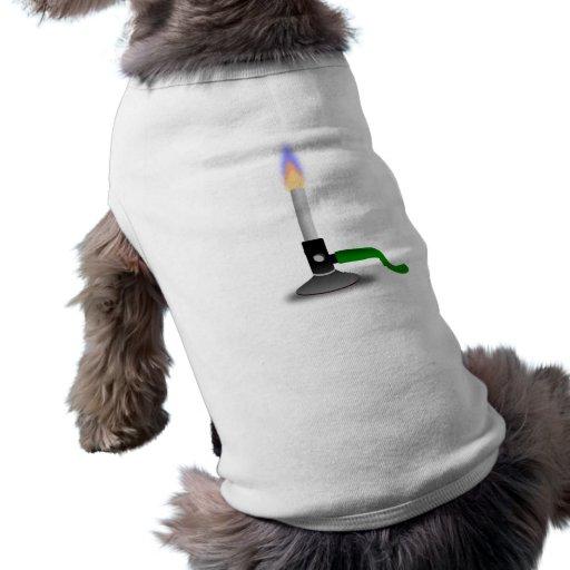 Hornilla de Bunsen de la ciencia y de la química Camisas De Perritos
