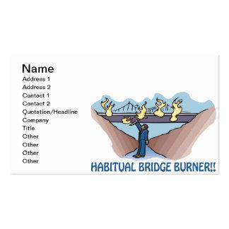 Hornilla habitual del puente plantillas de tarjetas de visita