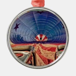 Hornillas de aerostación del globo del aire adorno redondo plateado