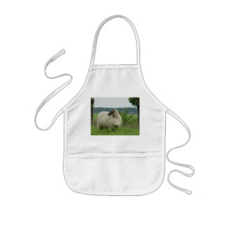 Hornless sheep kids' apron