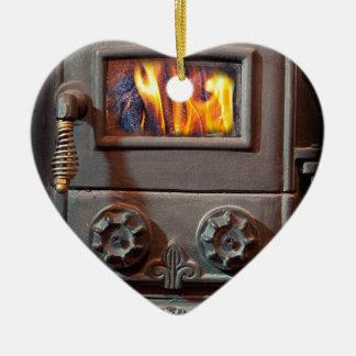 Horno Adorno Navideño De Cerámica En Forma De Corazón