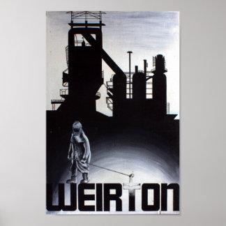 Horno de la acería de Weirton Póster