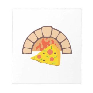 Horno de la pizza libretas para notas