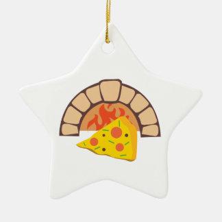 Horno de la pizza adorno de cerámica en forma de estrella