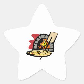 HORNO DE LA PIZZA PEGATINA EN FORMA DE ESTRELLA