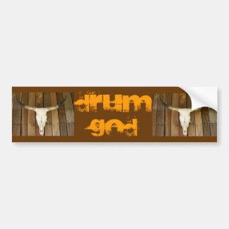 horns, horns, DRUM GOD Car Bumper Sticker