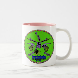 Horns Inn Review, green Two-Tone Coffee Mug