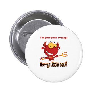 Horny Little Devil 2 Inch Round Button